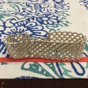 Monet silver chain link bracelet